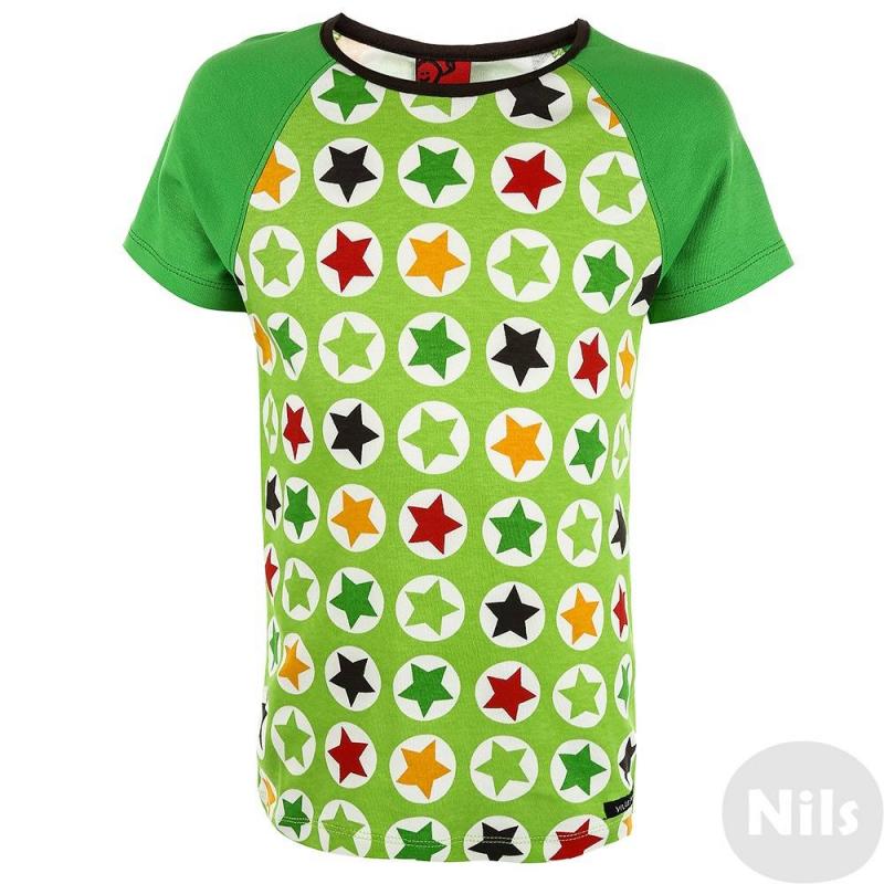 Футболка - VillervallaФутболка зеленогоцвета маркиVillervalla длямальчиков.<br>Симпатичная модная футболка - отличный вариант универсальной одежды для весенне-летнего сезона. Она сшита из мягкого хлопкового трикотажа. Декорирована футболка оригинальным принтом. Это изделие станет оригинальным акцентом в летнем ансамбле. Она будет хорошо сочетаться со многими вещами из детского гардероба.<br><br>Размер: 6 лет<br>Цвет: Зеленый<br>Рост: 116<br>Пол: Для мальчика<br>Артикул: 624631<br>Сезон: Весна/Лето<br>Состав: 100% Хлопок<br>Бренд: Швеция