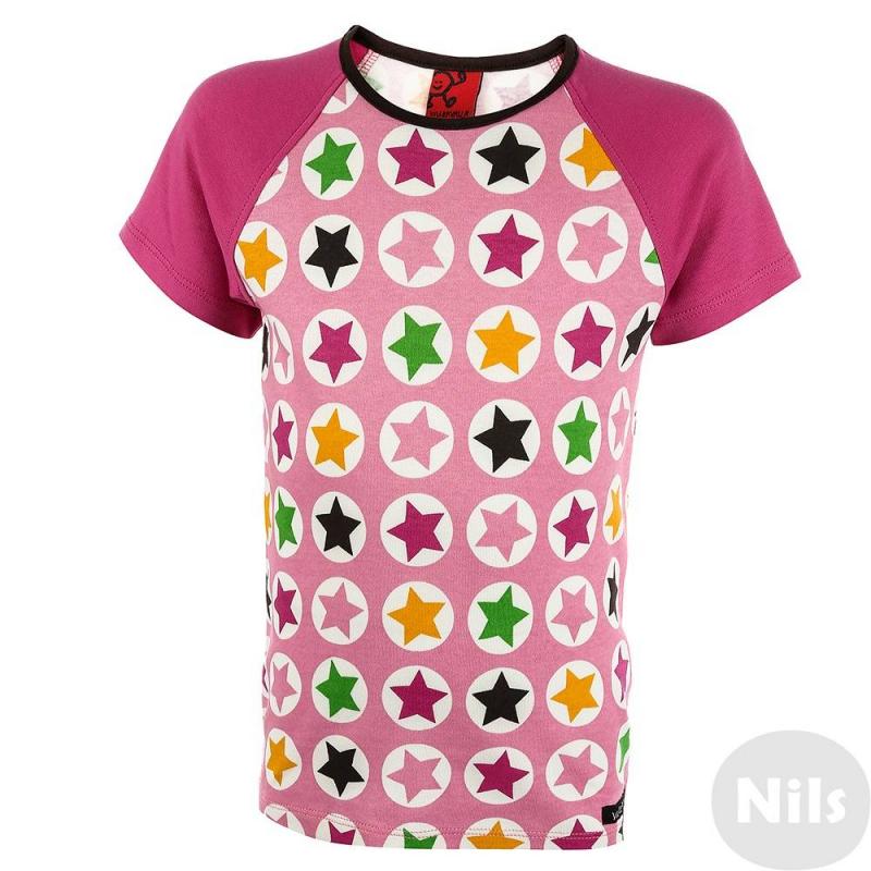 ФутболкаФутболка розового цвета маркиVillervalla для девочек.<br>Симпатичная модная футболка - отличный вариант универсальной одежды для весенне-летнего сезона. Она сшита из мягкого хлопкового трикотажа. Декорирована футболка оригинальным принтом. Это изделие станет оригинальным акцентом в летнем ансамбле. Она будет хорошо сочетаться со многими вещами из детского гардероба.<br><br>Размер: 7 лет<br>Цвет: Розовый<br>Рост: 122<br>Пол: Для девочки<br>Артикул: 624639<br>Бренд: Швеция<br>Сезон: Весна/Лето<br>Состав: 100% Хлопок