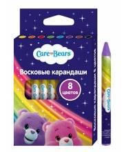 Восковые карандаши Заботливые мишки 8 цветов РОСМЭН