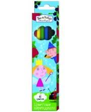 Цветные карандаши 6 цветов Бен и Холли РОСМЭН