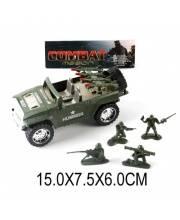 Машинка Военная инерционная с фигурками Наша Игрушка