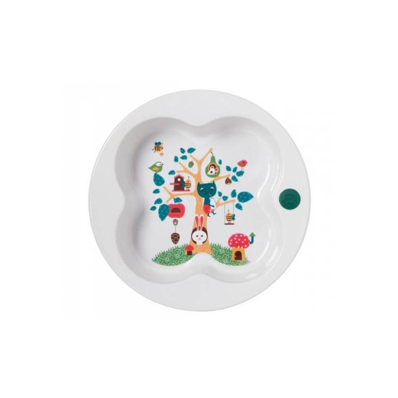 Bebe Confort Тарелка с крышкой тарелка bebe confort 6 18 мес с крышкой зеленая 31000304