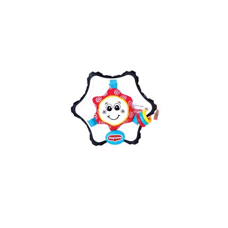 Погремушка малая ЗвездочкаПогремушка Tiny Love Звездочка- этояркая погремушка, оснащенная прорезывателем для зубов. Рекомендована для малышей с самого рождения.<br>Погремушка-прорезыватель с «пупырышками» на поверхности имеет эргономичную форму шестиугольной звезды, уголки которой очень удобно грызть и держать детскими ручками. Внутри прорезывателя на резиночках расположилась улыбающаясязвездочка. Резиночки растягиваются, и малыш может тянуть звездув разные стороны. С другой стороны игрушки безопасное зеркало. На прорезывателе есть три разноцветных колечка, которые издают звуки, когда малыш трясет погремушкой.<br><br>Возраст от: 0 месяцев<br>Пол: Не указан<br>Артикул: 624381<br>Бренд: Израиль<br>Размер: от 0 месяцев