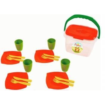 Игрушки, Набор детской посуды Алиса для пикника №1 Полесье 197586, фото