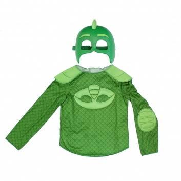 Любимые герои, Карнавальный костюм Герои в масках Гекко маска и кофта РОСМЭН (зеленый)198267, фото