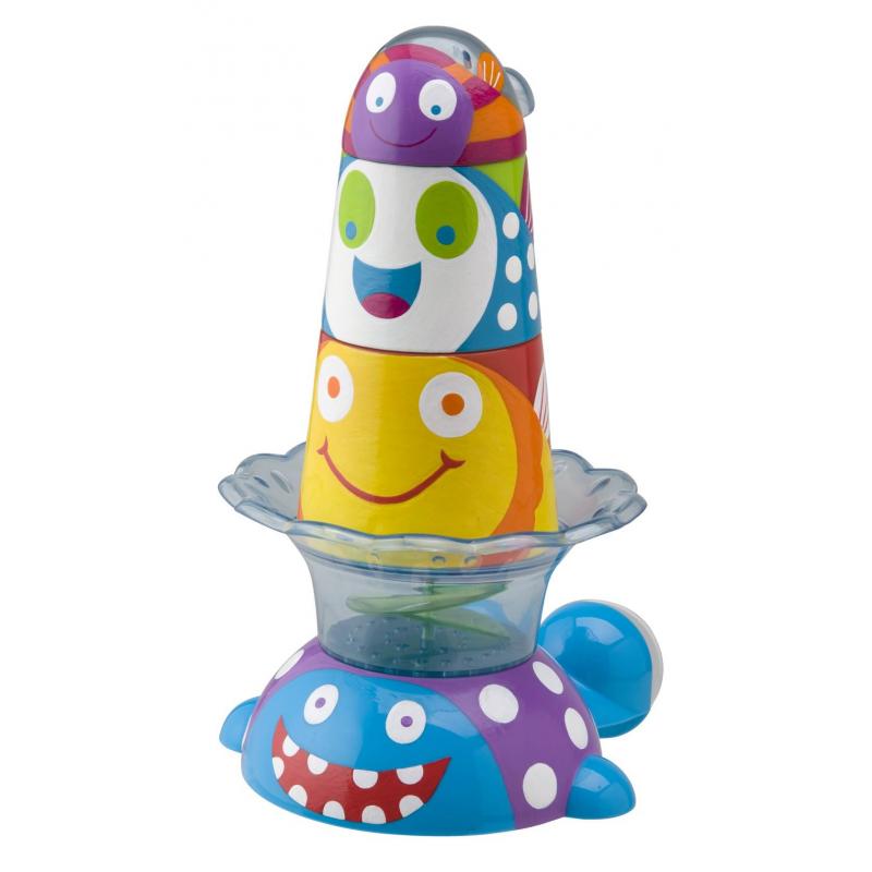 Игрушка-пирамидка для ванной Китенок и друзьяИгрушка для ванной Alex Пирамидка Китенок и друзья.Забавная игрушка Китенок и друзья, способствующая развитию логического мышления, превратит ежедневное скучное купание в веселую увлекательную игру. Подходит для детей от 2-х лет.<br>Игрушка-пирамидка представляет собой набор, включающий красочного китенка и трех забавных морских рыбок, выполненных в виде небольших чашечек, которые малышу будет удобно держать в ручках. Китенок имеет присоску, при помощи которой крепится к стенке или к ванне. Чашечки легко устанавливаются на китенка в форме пирамидки. Кроме этого, во время купания малыш сможет поливать из чашечек водичку или брызгаться.<br><br>Возраст от: 2 года<br>Пол: Не указан<br>Артикул: 624419<br>Бренд: США<br>Размер: от 2 лет
