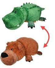 Игрушка Вывернушка плюшевая Крокодил -Медведь 20 см 1Toy