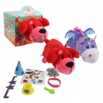 Игрушки, Игровой набор Плюшевая Вывернушка-Сюрприз 2-в-1 Красный сеттер 1Toy , фото