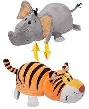 Плюшевая Вывернушка 35 см 2в1 Тигр-Слон 1Toy
