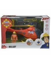 Вертолет со светом и звуком + фигурка Пожарный Сэм Simba