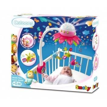 Игрушки, Мобиль музыкальный на кроватку Цветок Smoby (малиновый), фото
