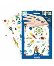 Татуировки светящиеся в темноте Космос Djeco