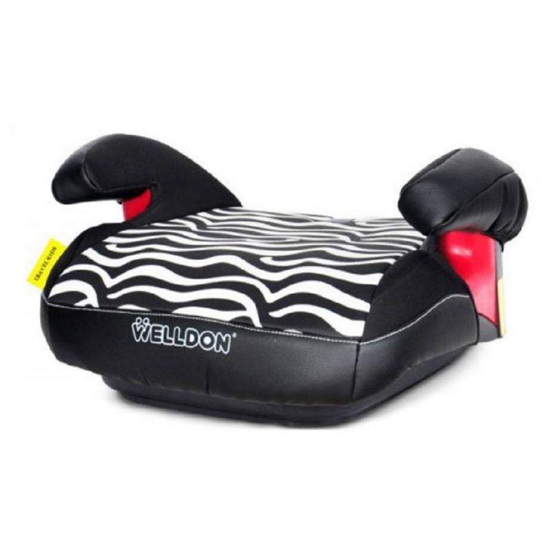 Бустер BS03-T9 ZebraБустер BS03-T9 Zebra черного цвета марки Welldon.<br>Бустер BS03-T9 Zebraпольской марки Welldon предназначен для детей от пяти до двенадцати лет. Он отлично подойдет для тех, кто редко ездит в автомобиле с детьми. Также рекомендуется в случае, если ребенок по какой-либо причине отказывается ездить в детском автокресле. Изделие удобно в использовании и переноске, за счет своей легкости.<br>Бустер приподнимает ребенка так, чтобы штатный ремень безопасности автомобиля правильно располагался на теле ребенка. Для дополнительного комфорта у бустера предусмотрены подлокотники. Сидение мягкое, выполнено в виде подушки, поэтому даже при длительной поездке ребенку будет комфортно. Бустер имеет симпатичную расцветку, очень мягкую и прочную поверхность. Съемную обивку легко чистить (но нельзя отбеливать). Изделие крепится штатным ремнем безопасности, чехол хорошо впитывает влагу, сделан из гипоаллергенного материала.<br>Материал: текстиль, пластик.<br>Размер: 40х40х20 см.<br>Вес: 1,5 кг.<br><br>Цвет: Черный<br>Возраст от: 5 лет<br>Пол: Не указан<br>Артикул: 624356<br>Бренд: Израиль<br>Страна производитель: Китай<br>Вес: 1,5 кг.<br>Размер: от 5 лет<br>Способ установки: По ходу движения<br>Способ крепления: Ремень безопасности