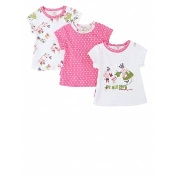 Девочки, Комплект футболок 3 шт Lucky Child (малиновый)221866, фото