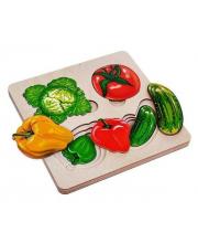 Рамка-вкладыш многослойная Больше-меньше Овощи Нескучные игры