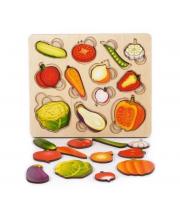 Рамка-вкладыш Часть и целое Овощи Нескучные игры