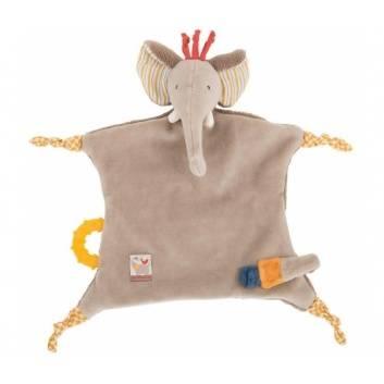 Игрушки, Комфортер - успокоитель слоненок Moulin Roty 176575, фото