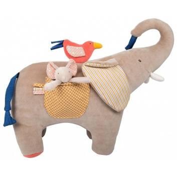 Игрушки, Мультиактивный слон Moulin Roty 176586, фото