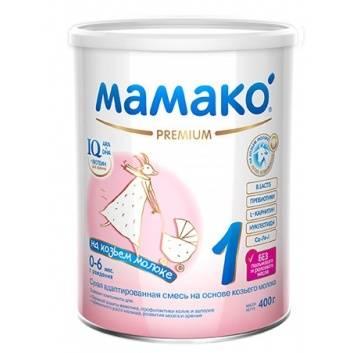 Питание, Сухая адаптированная молочная смесь на основе козьего молока для детей от 0 до 6 мес 400 гр Мамако 223208, фото