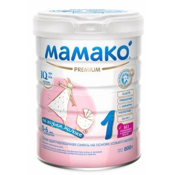 Питание, Сухая адаптированная молочная смесь на основе козьего молока для детей от 0 до 6 мес 800 гр Мамако 223209, фото