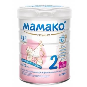 Питание, Последующая адаптированная молочная смесь на основе козьего молока для детей от 6 до 12 мес 800 гр Мамако 223211, фото
