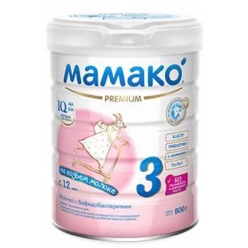 Питание, Сухой молочный напиток с бифидобактериями на основе козьего молока для детей старше 12 мес 800 гр Мамако 223213, фото