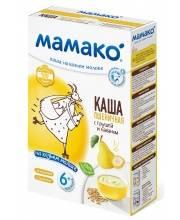 Каша пшеничная с грушей и бананом на козьем молоке 200 гр Мамако