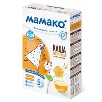 Питание, Каша кукурузная с пребиотиками на козьем молоке 200 гр Мамако 223220, фото