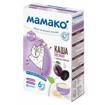 Питание, Каша овсяная с черносливом на козьем молоке 200 гр Мамако 223222, фото