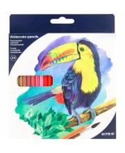 Карандаши цветные акварельные 24 шт Kite