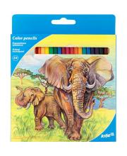 Карандаши цветные 24 шт Животные Kite