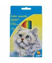 Карандаши цветные 18 шт Животные Kite