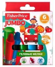 Гелевые мелки JUMBO 6 цветов Fisher Price