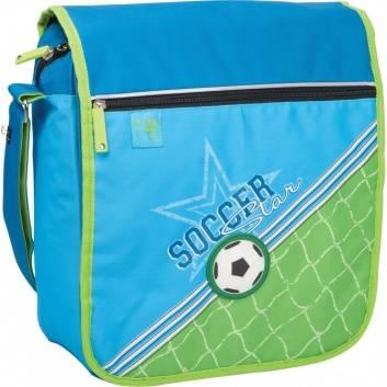 Школа, Сумка школьная Soccer Erich Krause (голубой)556029, фото