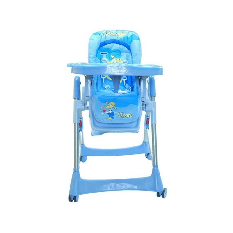 Стульчик Piero Fabula BlueСтульчик Jetem PieroFabula Blue.Стульчик представляет собой надежную и устойчивую конструкцию из высококачественного пластика. Он позволит добиться максимального удобства для ребенка за счет регуляции наклона спинки, имеющей три положения, и поднятия кресла на один из шести уровней.Пятиточечные ремни и ограничитель обеспечиваютбезопасность малыша. Подвижная двойная столешница позволяет подобрать нужное расстояние относительно спинки. Ножки стульчика оснащены бесшумными колесиками с фиксаторами. Стульчик просто собирается в компактную конструкцию. Съемный чехол легко стирается, не изменяя цвета. Модель оснащена вместительной корзиной для игрушек.Параметры:- максимальный вес ребенка: 15 кг-размеры (ВхШхГ): 125х60х65 см-высота спинки: 58 см-ширина сидения: 29 см-глубина сидения: 28 см.<br><br>Возраст от: 6 месяцев<br>Пол: Не указан<br>Артикул: 624095<br>Бренд: Германия<br>Размер: от 6 месяцев