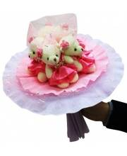 Букет из мягких игрушек Розовые фантазии 5 мишек Color Kit