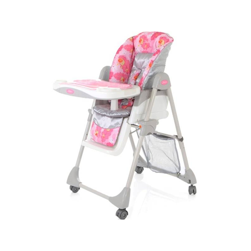 Стульчик Enjoue FS-1 PinkСтульчик Jetem Enjoue FS-1 Pink.Удобный стульчик для кормления Enjoue с пятью уровнями высоты производится брендом Jetem и предназначен для детей в возрасте с 6-ти месяцев до 3-х лет.<br>Симпатичный стульчик для кормления с рисунком на удобном сиденье Enjoue имеет пять различных уровней высоты кресла, пять положений наклона спинки, последним из которых является положение «лежа», а также специальный ограничитель, который не позволит малышу случайно соскользнуть.Пятиточечные ремни безопасности надежно зафиксируют кроху в сиденье. Съемная прозрачная дополнительная столешница, регулируемая подножка и три положения глубины столешницы делают стул еще более маневренным и удобным.Материал чехла: текстиль (полиэстер).<br><br>Возраст от: 6 месяцев<br>Пол: Для девочки<br>Артикул: 624115<br>Бренд: Германия<br>Размер: от 6 месяцев