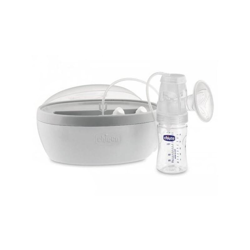 Молокоотсос электрическийМолокоотсос Chicco электрический.В этой модели есть все необходимое для бережного и комфортного сцеживания грудного молока. Молокоотсос в комплекте имеет сумку для хранения и переноски, а также контейнер для сцеженного молока.<br>Электрический молокоотсос от Chicco – эффективный инструмент для сцеживания грудного молока. Чаша для сцеживания имеет волнообразную форму, бережно стимулируя во время работы молочные протоки. На нее надевается мягкая силиконовая мембрана. Вы можете сами регулировать уровень интенсивности сцеживания, делая процесс удобным и максимально комфортным для себя.Молокоотсос оснащен функцией памяти: он запоминает настройки предыдущего включения, поэтому вам не нужно каждый раз искать удобный уровень интенсивности работы. В комплект входит сумка для переноски, бутылочка для молока с мерными делениями, зажимное кольцо и соска.<br><br>Возраст от: 0 месяцев<br>Пол: Не указан<br>Артикул: 624129<br>Бренд: Италия<br>Размер: Без размера