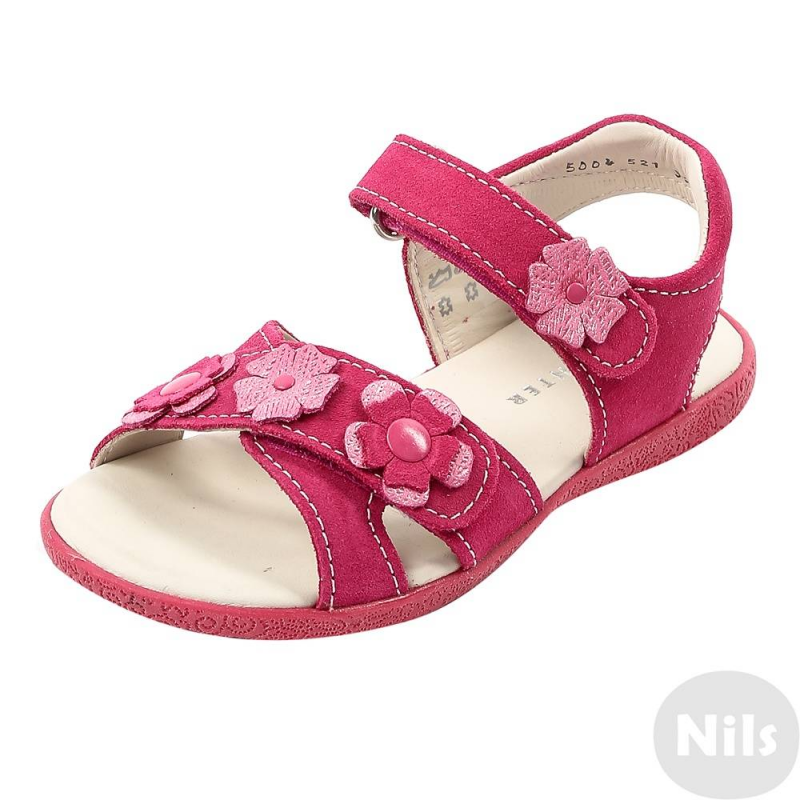 БосоножкиБосоножки малиновогоцвета австрийской марки Richter длядевочеквыполнены из натуральной замши, украшены аппликацией в виде цветов. Подкладка и стелька сшиты из натуральной кожи. Стелька мягкая, повторяет форму стопы и поредотвращает проскальзывание стопы в обуви. Резиновая подошва не скользит. Удобные регулируемые липучки обеспечивают отличную посадку по ножке.<br><br>Размер: 29<br>Цвет: Малиновый<br>Пол: Для девочки<br>Артикул: 625755<br>Сезон: Всесезонный<br>Материал верха: Натуральная замша<br>Материал подкладки: Натуральная кожа<br>Материал стельки: Натуральная кожа<br>Материал подошвы: Резина<br>Бренд: Австрия