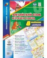 Обучающее пособие Английский язык Изучаем глагол 8 плакатов Издательство Учитель