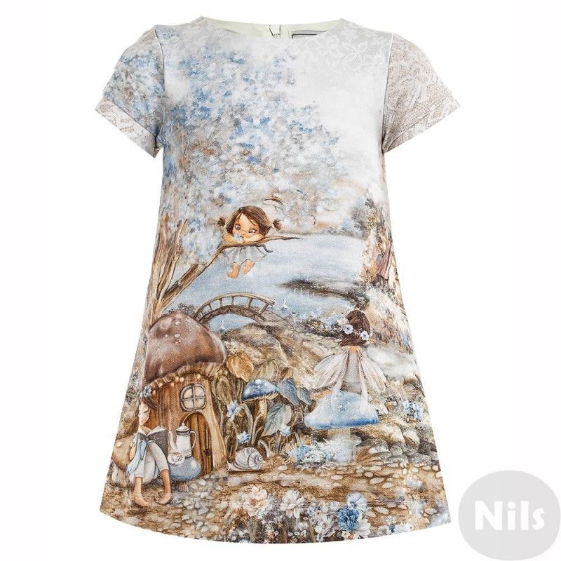 Купить Платье, MAYORAL, Голубой, 3 года, Для девочки, 624981, Всесезон, Осень/Зима, Турция