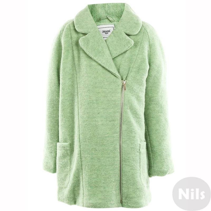 ПальтоПальто светло-зеленого цвета марки MAYORAL для девочек.<br>Пальто выполнено из смешанной плотной ткани с добавлением шерсти. Пальто дополнено подкладкой, имеет слой утепления, отложной воротникидванакладных кармана спереди. Застегивается пальто на ассиметричную молнию.<br><br>Размер: 16 лет<br>Цвет: Зеленый<br>Рост: 162<br>Пол: Для девочки<br>Артикул: 625211<br>Страна производитель: Китай<br>Сезон: Осень/Зима<br>Состав: 57% Полиэстер, 25% Акрил, 18% Шерсть<br>Состав подкладки: 100% Полиэстер<br>Бренд: Испания<br>Наполнитель: 100% Полиэстер