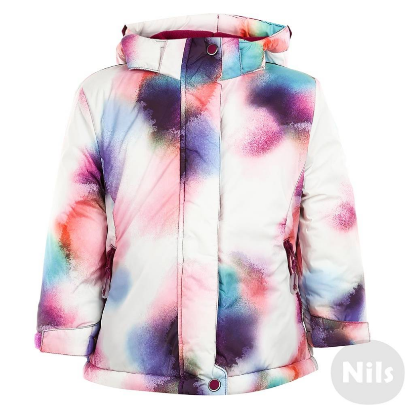КурткаРозовая курткас яркимпринтоммарки MAYORAL для девочек. Куртка имеет съемный капюшон на кнопках, два кармана на молнии. Куртка застегивается на молнию, кнопки и липучки. Высокий воротник прекрасно защитит от холодного ветра, застегивается на кнопку и липучки. Рукава дополнены манжетами и регулируются с помощью липучек. Внутри куртка имеет мягкую флисовую подкладку, внутренний карман, на поясе дополнительную вставку с резинками для защиты от ветра и холода. Низ куртки также регулируется с помощью утяжек с фиксаторами.<br><br>Размер: 7 лет<br>Цвет: Розовый<br>Рост: 122<br>Пол: Для девочки<br>Артикул: 625092<br>Бренд: Испания<br>Страна производитель: Китай<br>Сезон: Осень/Зима<br>Состав: 100% Полиэстер<br>Состав подкладки: 100% Полиэстер<br>Наполнитель: 100% Полиэстер