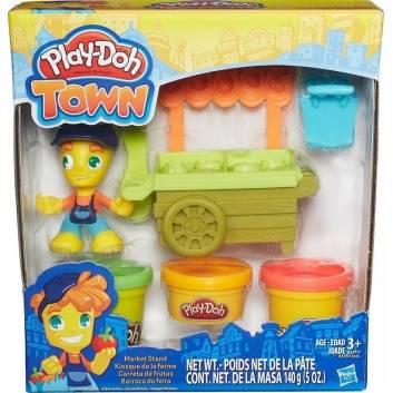 Творчество, Игровой набор Play-Doh Town Транспортные средства Тележка продавца HASBRO 189378, фото