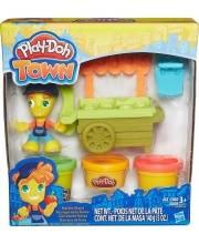Игровой набор Play-Doh Town Транспортные средства Тележка продавца HASBRO
