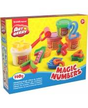 Пластилин на растительной основе Magic Numbers 4 банки по 35 г Erich Krause