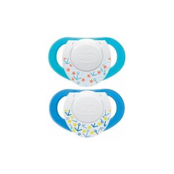 Гигиена, Пустышки силиконовые 4+ 2 шт. Chicco 624137, фото