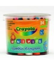 Восковые мелки в бочонке 24 цвета Crayola