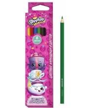 Детские цветные карандаши Шопкинс 6 цветов РОСМЭН