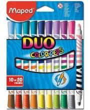 Набор фломастеров Colorpeps Duo 20 цветов Maped